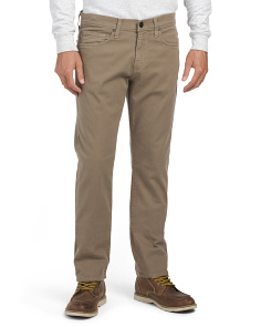Made In USA Kane Straight Leg Twill Pants
