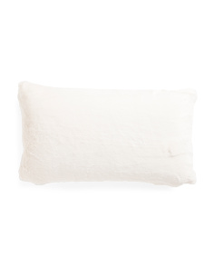 14x24 Soft Snow Faux Fur Pillow