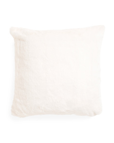20x20 Soft Snow Faux Fur Pillow