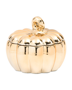 20oz Metallic Ceramic Pumpkin Candle