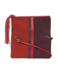 Retro Fold Over Leather Clutch