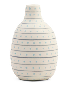 Striped Dotted Vase