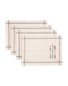 Set Of 4 Made In India Cutlery Placemats