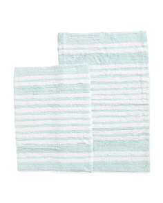 Made In India 2pc Striped Bath Rug Set