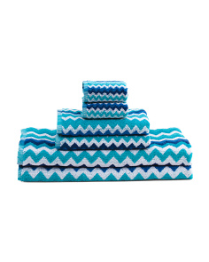 Made In India 6pc Zig Zag Towel Set