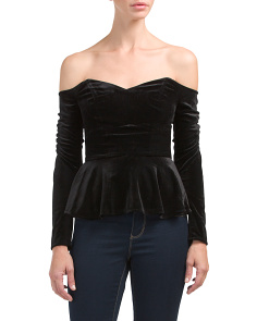 Velvet Serena Off The Shoulder Top