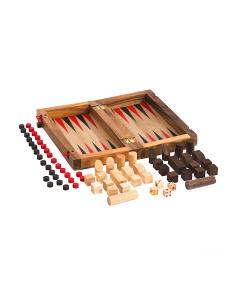 Wooden Board Game Set