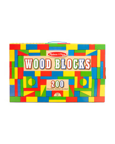 200pc Wood Blocks Set