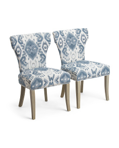 Set Of 2 Bicci Ikat Dream Chairs