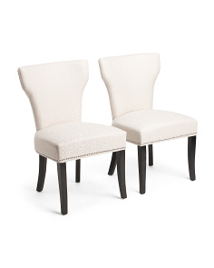 Set Of 2 Bicci Tonal Chevron Chairs