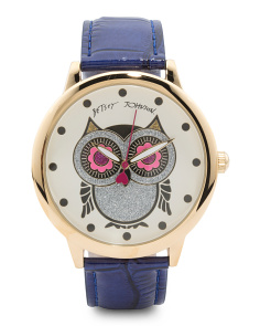 Women's Owl Dial Watch