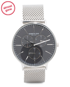 Men's Multifunction Mesh Strap Watch