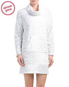 Long Sleeve Cowl Neck Nightshirt