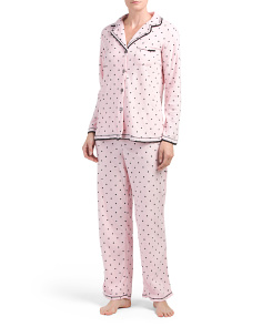 Packaged Notch Collar Pajama Set