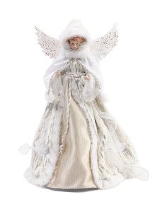 16in Sparkling Angel Tree Topper