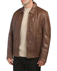 Calf Leather Bomber Jacket
