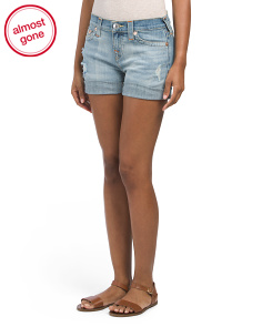 Boyfriend Distressed Denim Shorts
