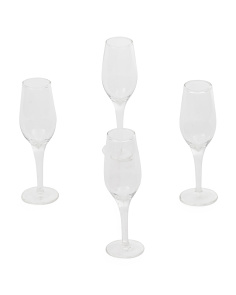 Set Of 4 Champagne Shot Glasses