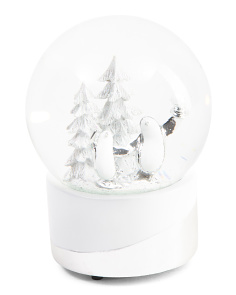Skating Penguin Snow Globe