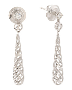 Made In Italy 18k White Gold Diamond Diamantissima Earrings