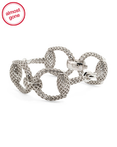 Made In Italy Sterling Silver Horsebit Bracelet
