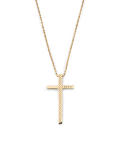 Made In Italy 18k Gold Diamantissima Cross Necklace