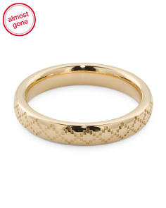 Made In Italy 18k Gold Diamantissima Thin Band Ring