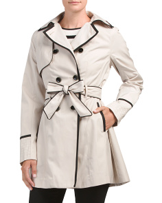 Corset Back Rain Trench Coat