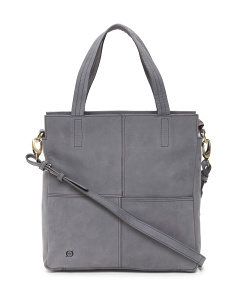 Distressed Jhanvi Leather Tote