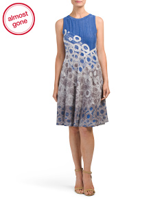 Petite Rain Drops Twirl Dress
