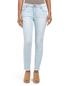 Connie Skinny Fray Hem Ankle Jeans
