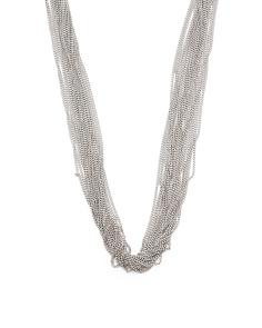 Made In Italy Sterling Silver Multi Chain Necklace