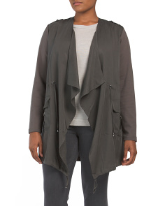 Plus Anorak Drape Jacket