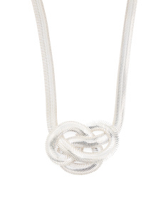 Made In Italy Sterling Silver Coda Di Toppo Knot Necklace