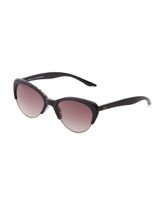 Small Semi Rimless Cat Sunglasses