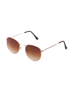 Thin Line Retro Round Sunglasses