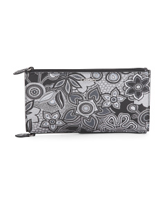 Vanessa Swirl Zip Leather Pouch