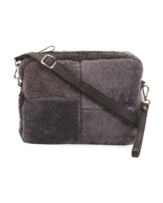 Made In Italy Rectangle Leather Crossbody