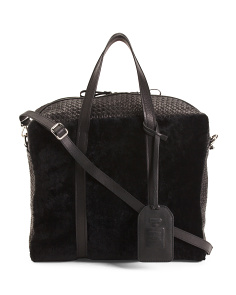 Made In Italy Shearling Leather Satchel