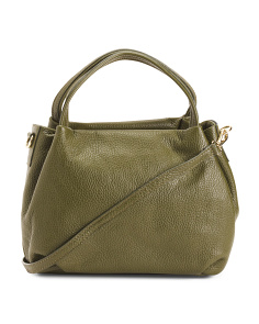 Made In Italy Leather Satchel Crossbody