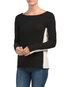 Wool Blend Color Block Sweater