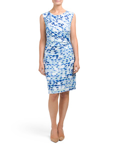 Petite Waterlane Twist Dress