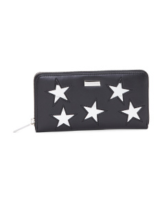 Made In Italy Metallic Stars Wallet