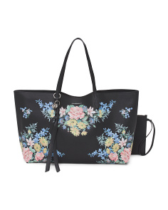 Made In Italy Floral Shopper Tote
