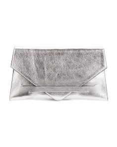 Made In Italy Leather Envelope Clutch