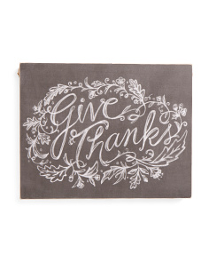 Give Thanks Box Sign