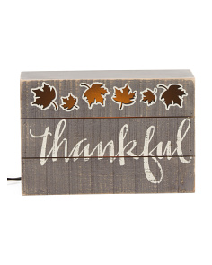 Thankful Light Box