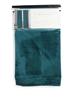 Set Of 2 Solid Velvet Curtains