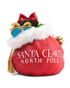 12in Santa Claus Bag Decor