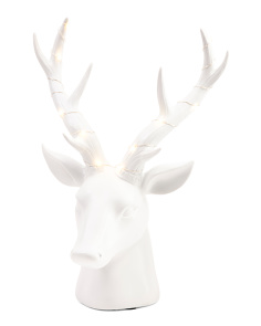 15in LED Deer Head Decor